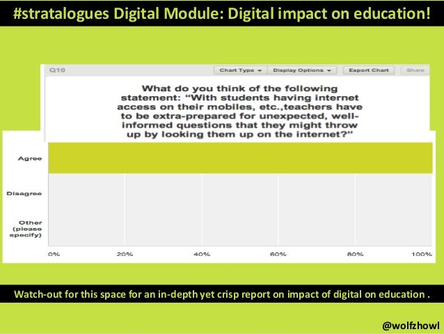 #stratalogues Digital Module: Digital impact on education! Watch-out for this space for an in-depth yet crisp report on im...