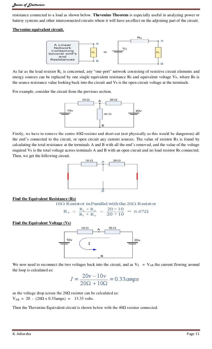 worksheet Equivalent Resistance Worksheet digital electronics adisesha page 10 11