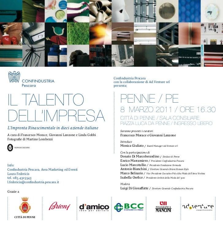 Confindustria Pescara                                                             con la collaborazione di ad.Venture srl ...