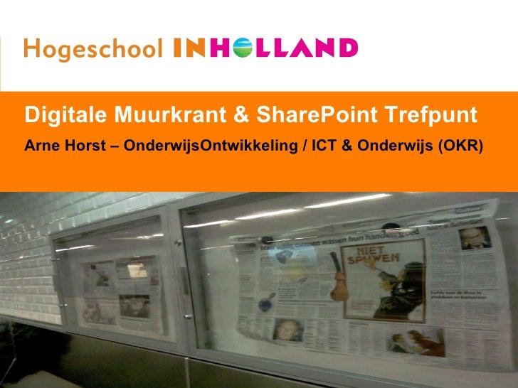 Fonkelnieuw Digitale Muurkrant + SharePoint Trefpunt LG-36