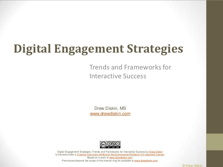 Digital Engagement Strategies<br />Trends and Frameworks for Interactive Success<br />Drew Diskin, MS<br />www.drewdiskin....