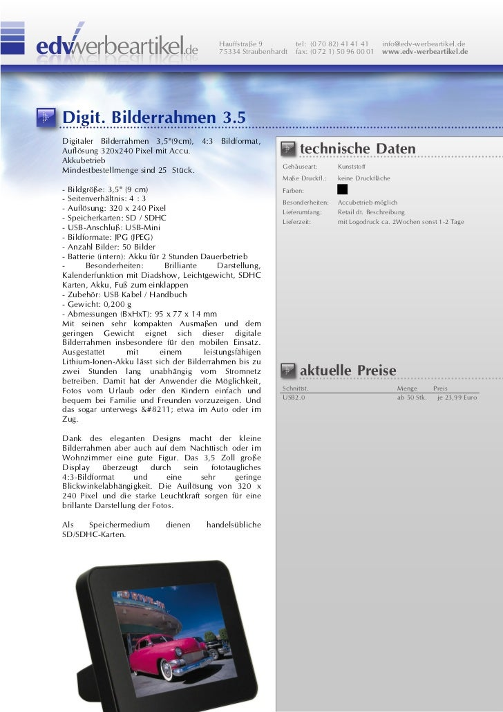Digitaler Bilderrahmen 35 2