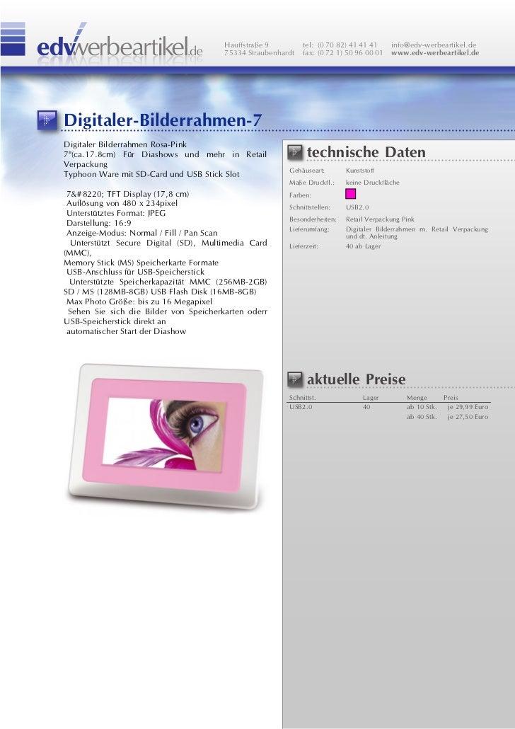 Digitaler Bilderrahmen 7