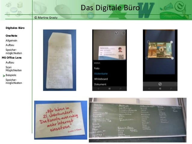 Digitales Büro Mit Onenote Office Lens