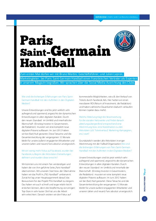 INTERVIEW I PARIS SAINT-GERMAIN HANDBALL  Paris  Saint-Germain  Handball  Zum ersten Mal dürfen wir mit Bruno Martini, Ges...