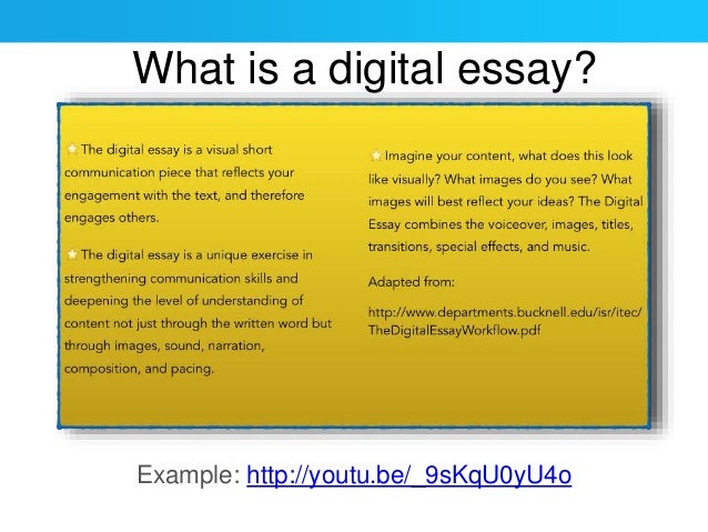 digital essay
