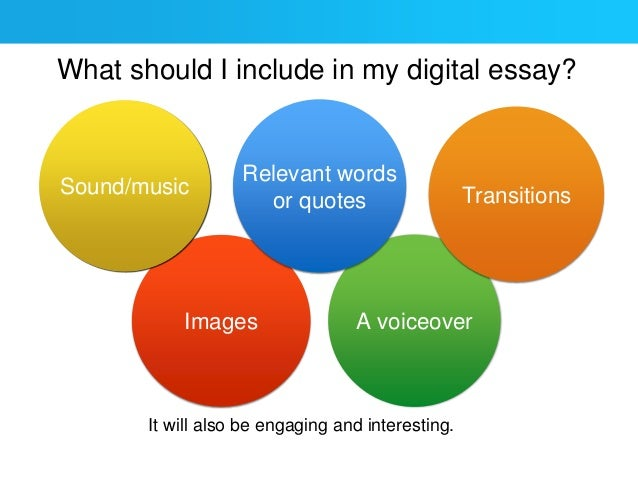 How to create a digital essay for English