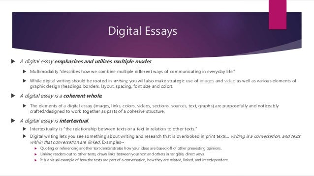 digital essay Quarterly essay digital read anywhere, anytime subscribers to the quarterly essay have full digital access on the website as well as.