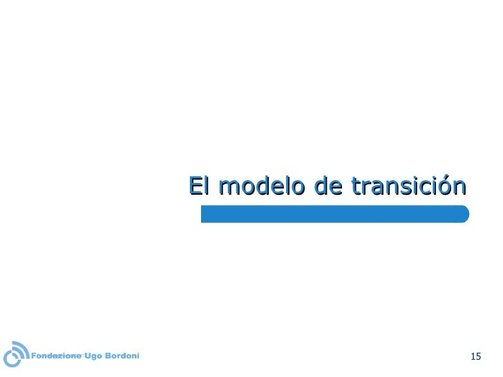 El modelo de transición