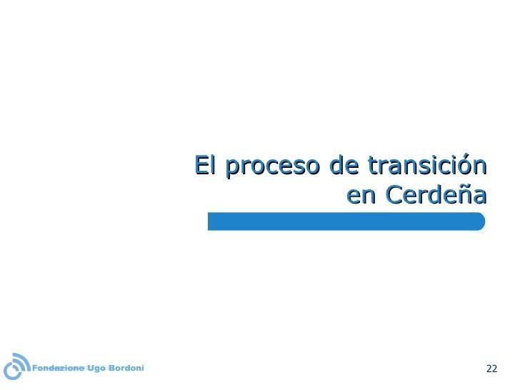 El proceso de transición en Cerdeña