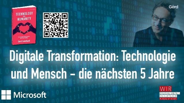 Digitale Transformation: Technologie und Mensch - die nächsten 5 Jahre