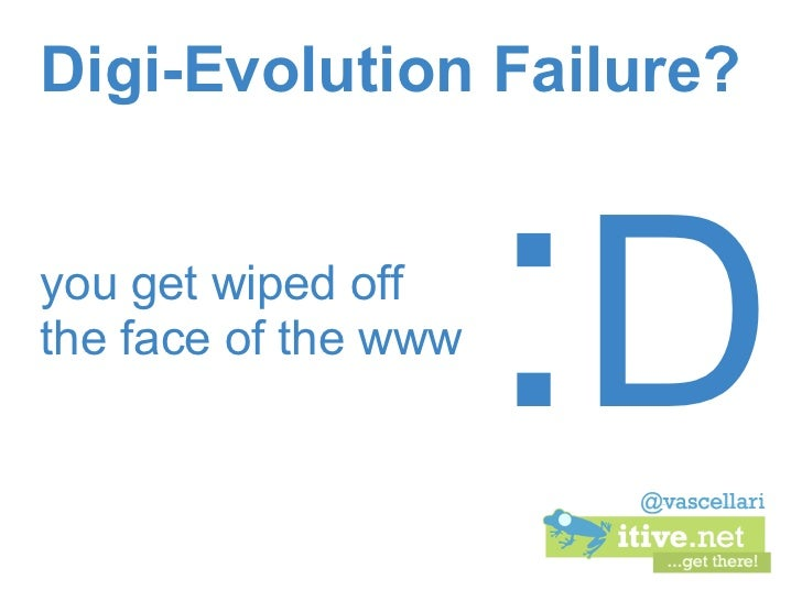Digi-Evolution Failure?you get wiped offthe face of the www                      :D