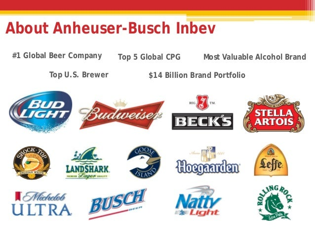 anheuser busch inbev marketing analysis A-b knows the complex us market much better than inbev, and we fear that any  change in the firm's marketing strategy in the us could lead.