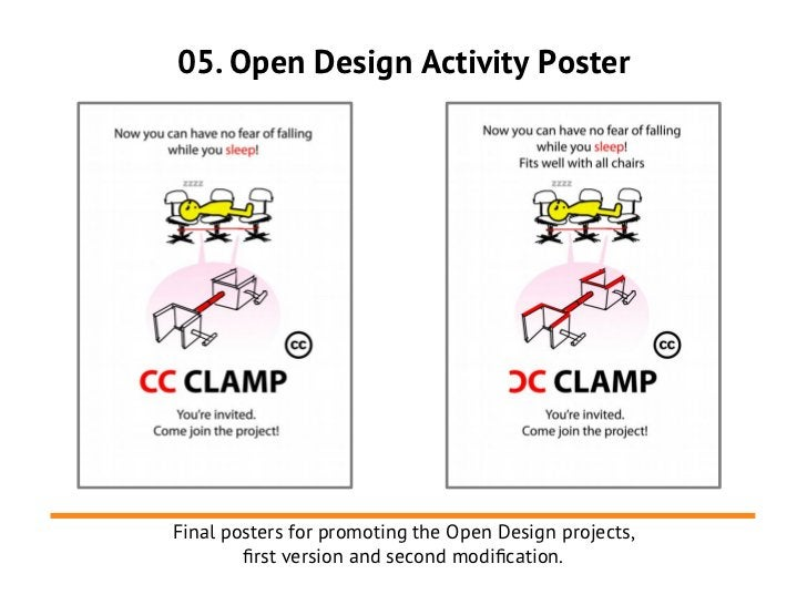 05. Open Design Activity PosterFinal posters for promoting the Open Design projects,        frst version and second modifc...