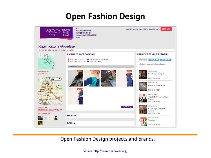 Open Fashion DesignOpen Fashion Design projects and brands.         Source: http://www.openwear.org/