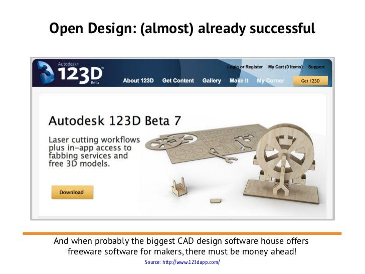 Open Design: (almost) already successfulAnd when probably the biggest CAD design software house offers   freeware software...