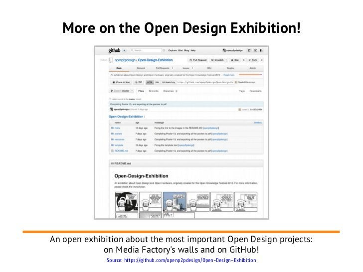 More on the Open Design Exhibition!An open exhibition about the most important Open Design projects:             on Media ...