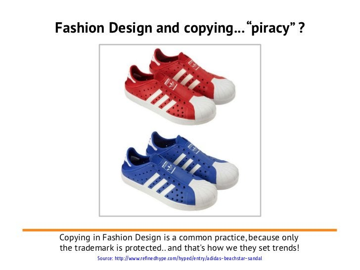 """Fashion Design and copying... """"piracy"""" ?Copying in Fashion Design is a common practice, because onlythe trademark is prote..."""