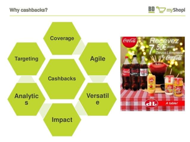 Why cashbacks?  Coverage  Cashbacks  Agile  Versatil  e  Impact  Targeting  Analytic  s