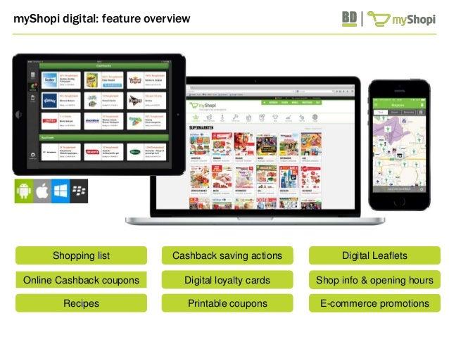 Shop info & opening hours  E-commerce promotions  myShopi.be  myShopi digital: feature overview  www.myShopi.be www.myShop...