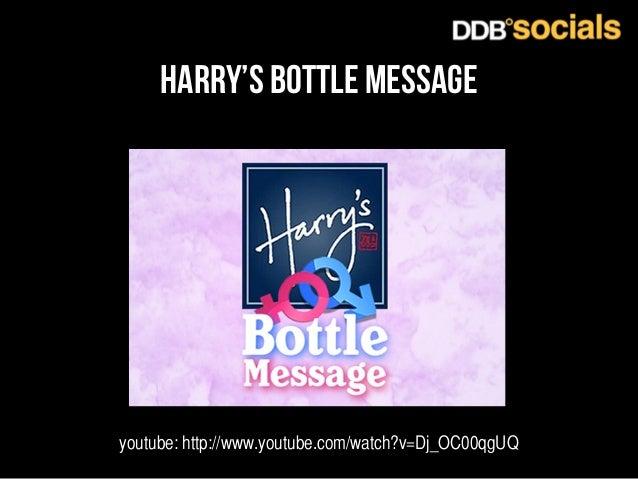 harry's bottle message  youtube: http://www.youtube.com/watch?v=Dj_OC00qgUQ