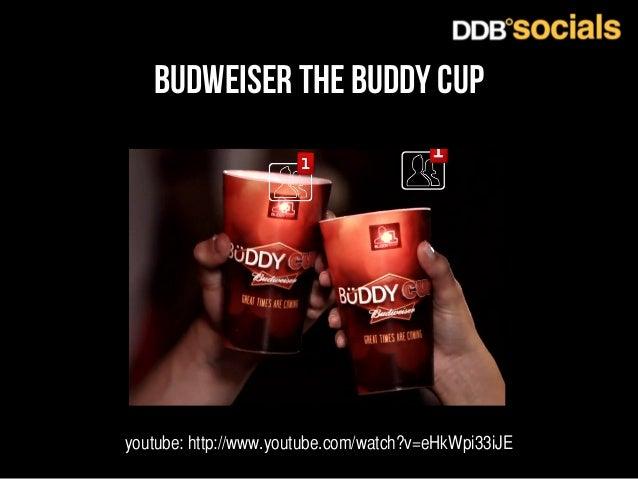 budweiser the buddy cup  youtube: http://www.youtube.com/watch?v=eHkWpi33iJE