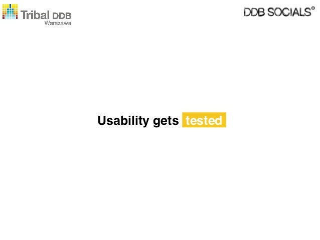 Usability gets tested