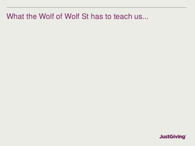 What the Wolf of Wolf St has to teach us...