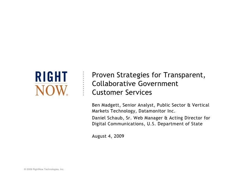 Proven Strategies for Transparent,                                      Collaborative Government                          ...