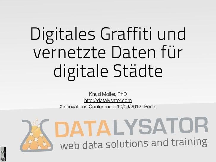 Digitales Graffiti undvernetzte Daten für   digitale Städte                  Knud Möller, PhD               http://datalys...