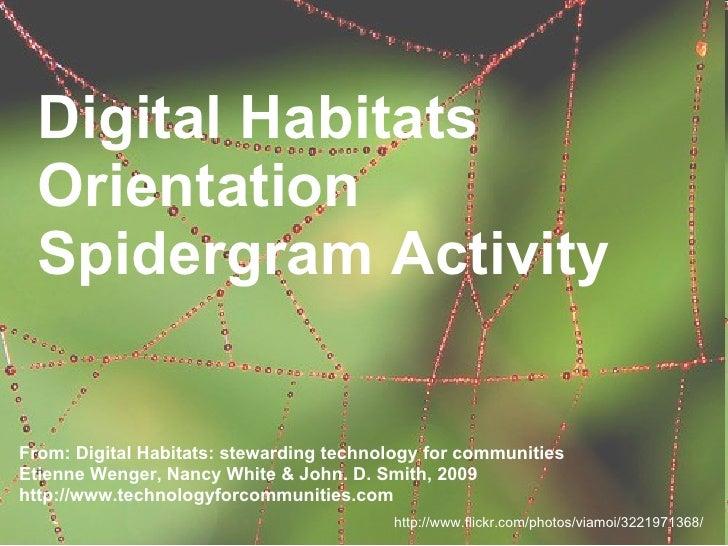 Digital Habitats   Orientation   Spidergram Activity   From: Digital Habitats: stewarding technology for communities Etien...