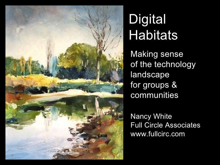 Making sense  of the technology landscape for groups & communities Nancy White Full Circle Associates www.fullcirc.com Dig...