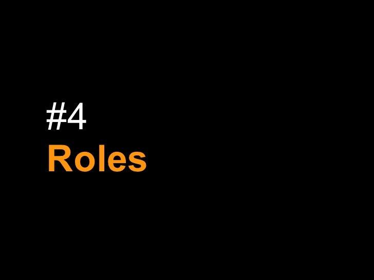 #4 Roles