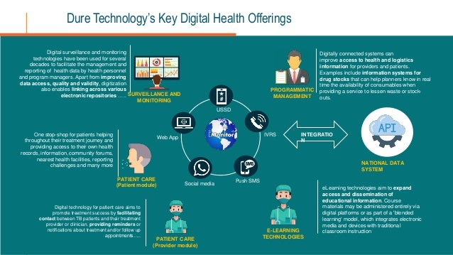 Digitally connected systems can improve access to health and logistics information for providers and patients. Examples in...