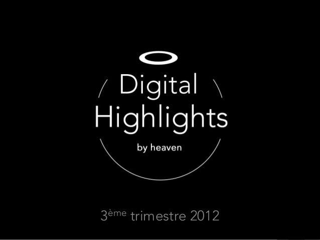 3ème trimestre 2012