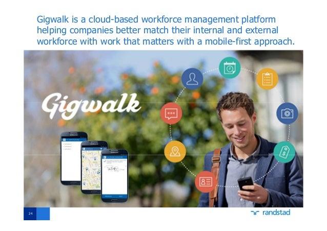 Gigwalk is a cloud-based workforce management platform helping companies better match their internal and external workforc...