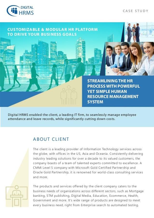 Case Study - Digital HRMS a customizable & modular HR