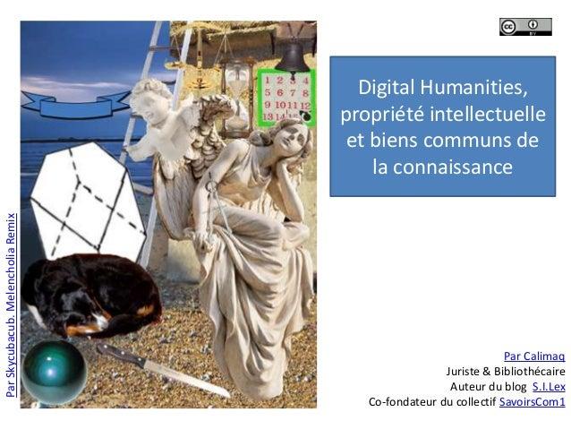 ParSkycubacub.MelencholiaRemixDigital Humanities,propriété intellectuelleet biens communs dela connaissancePar CalimaqJuri...