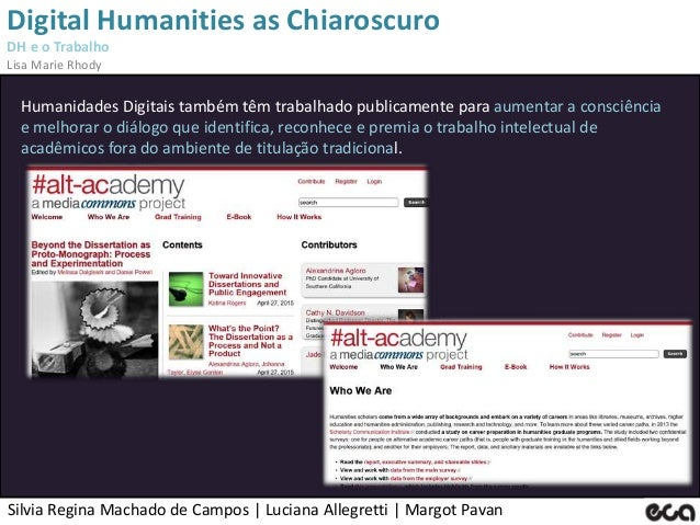 Silvia Regina Machado de Campos   Luciana Allegretti   Margot Pavan Digital Humanities as Chiaroscuro DH e o Trabalho Lisa...