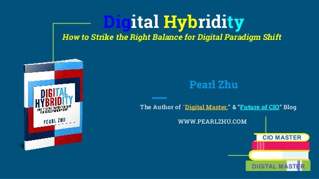 """Digital Hybridity How to Strike the Right Balance for Digital Paradigm Shift Pearl Zhu The Author of """"Digital Master,"""" & """"..."""