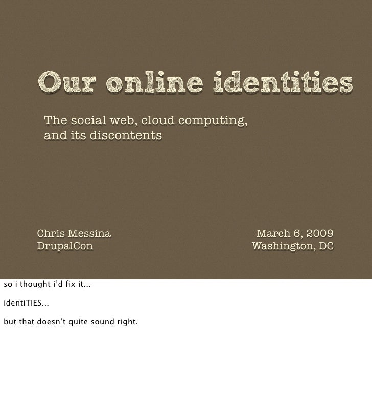 Our online identity Slide 2