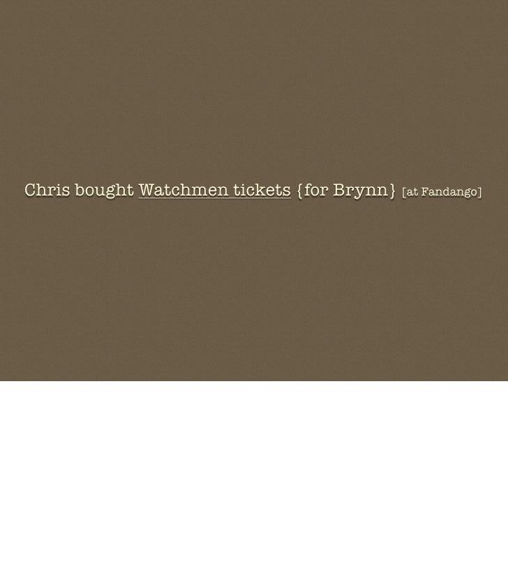Chris bought Watchmen tickets {for Brynn} [at Fandango]