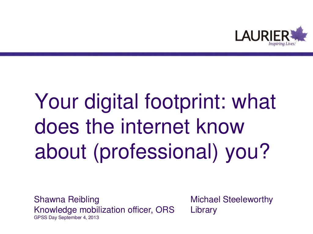 Your digital footprint: what does the internet know about (professional) you?