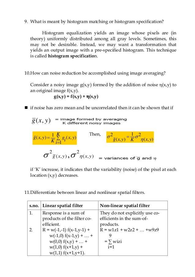 Digital Image Processing (DIP) PDF Study Materials cum ...