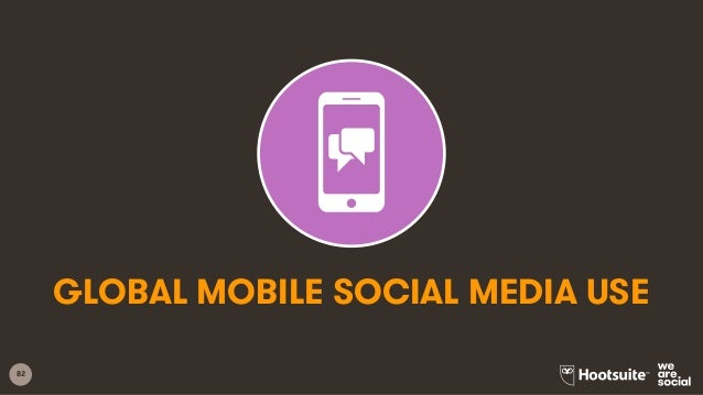 82 GLOBAL MOBILE SOCIAL MEDIA USE