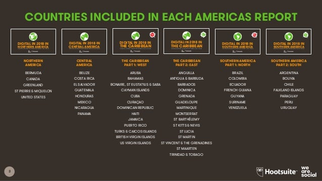 Digital in 2018 in Southern America Part 1 - North Slide 3