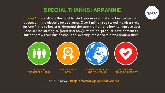 8 SPECIAL THANKS: APPANNIE App Annie delivers the most trusted app market data for businesses to succeed in the global app...