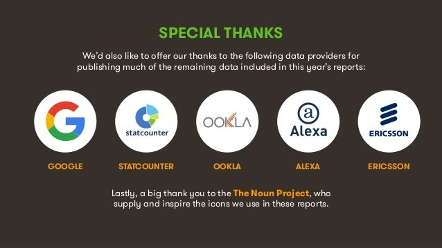 10 SPECIAL THANKS We'd also like to offer our thanks to the following data providers for publishing much of the remaining ...