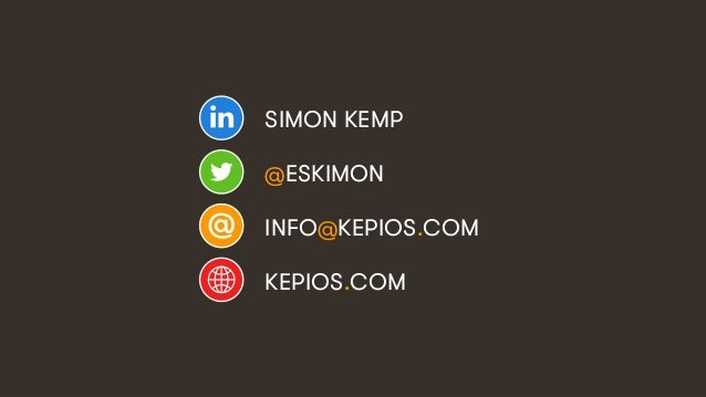 16 SIMON KEMP @ESKIMON INFO@KEPIOS.COM KEPIOS.COM