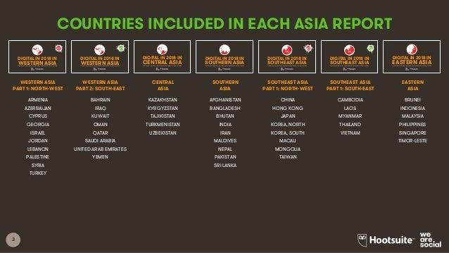 Digital in 2018 in Western Asia Part 2 - South-East Slide 3